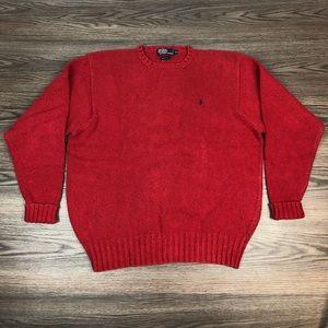Polo Ralph Lauren Red Crewneck Sweater XL
